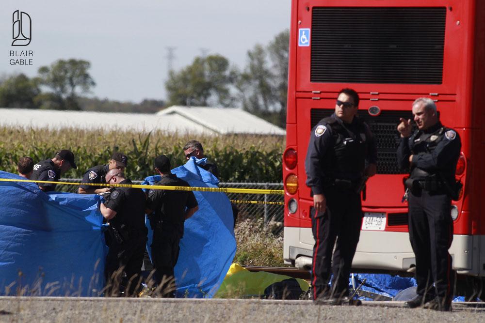 Fatal accident involving a City of Ottawa Bus and a Via Rail train in Ottawa