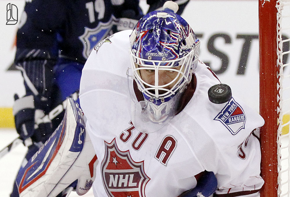 Lundqvist at NHL all-star game in Ottawa