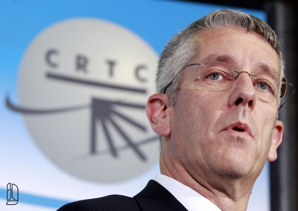 CRTC Chairman Blais speaks during a news conference in Gatineau