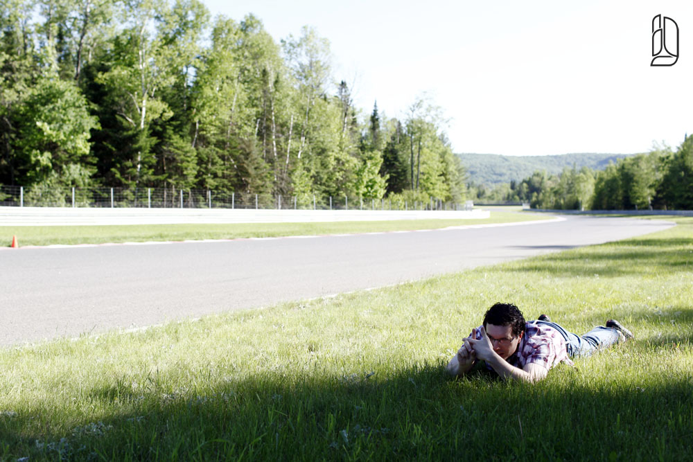 Ferrari Magazine photo shoot at Le Circuit in Mont Tremblant