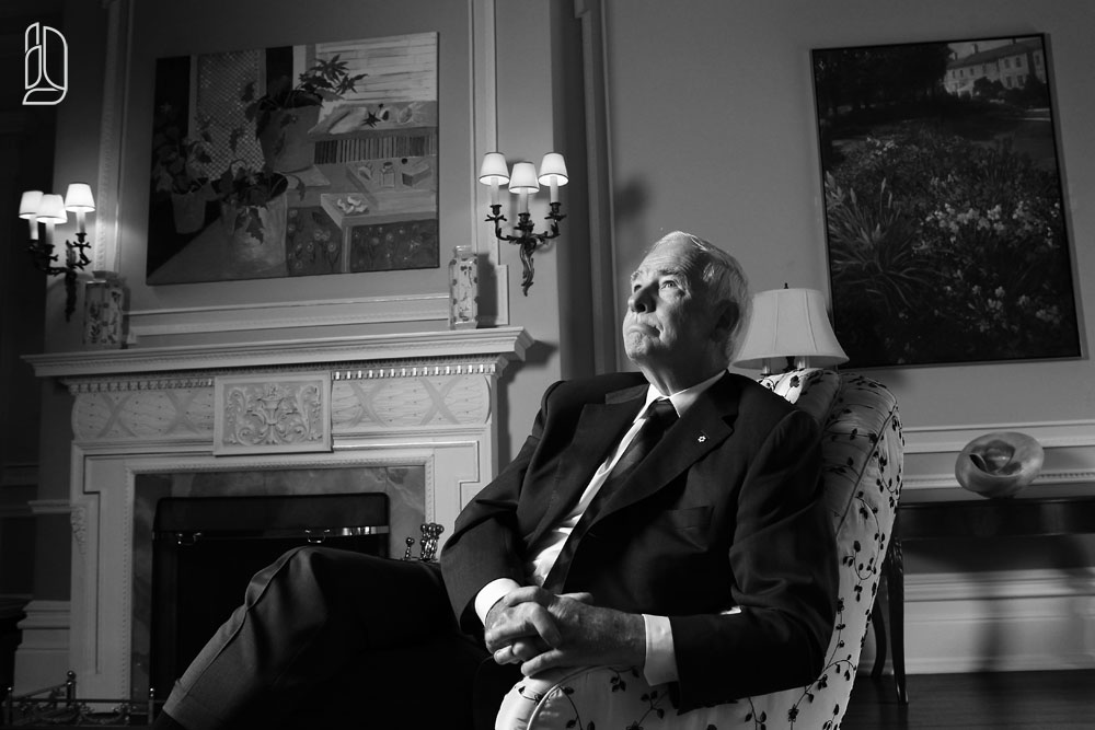 Canada's Governor General David Johnston at Rideau Hall