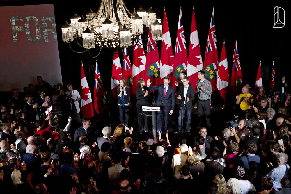 Dalton McGuinty wins his third term as premier of Ontario