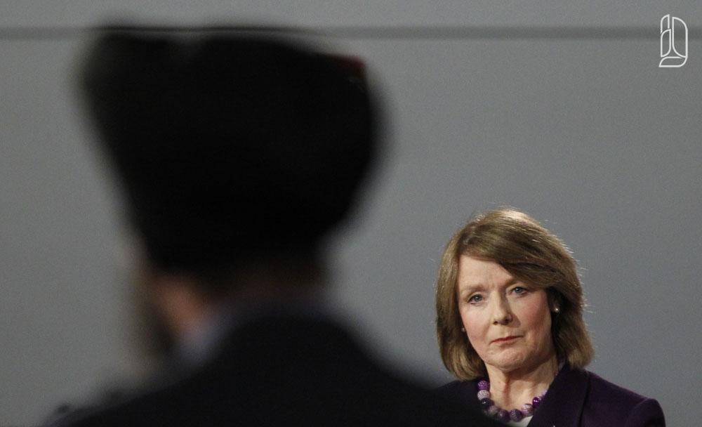 NDP MP Nash takes part in a NDP leadership debate in Ottawa