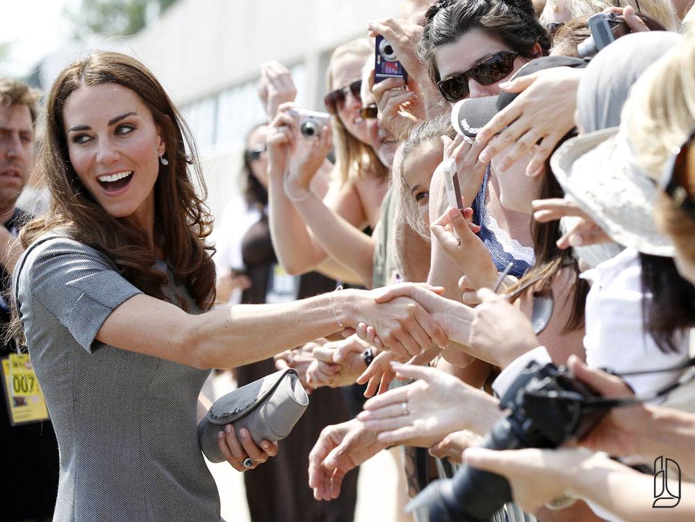 Catherine, Duchess of Cambridge, greets admirers in Ottawa
