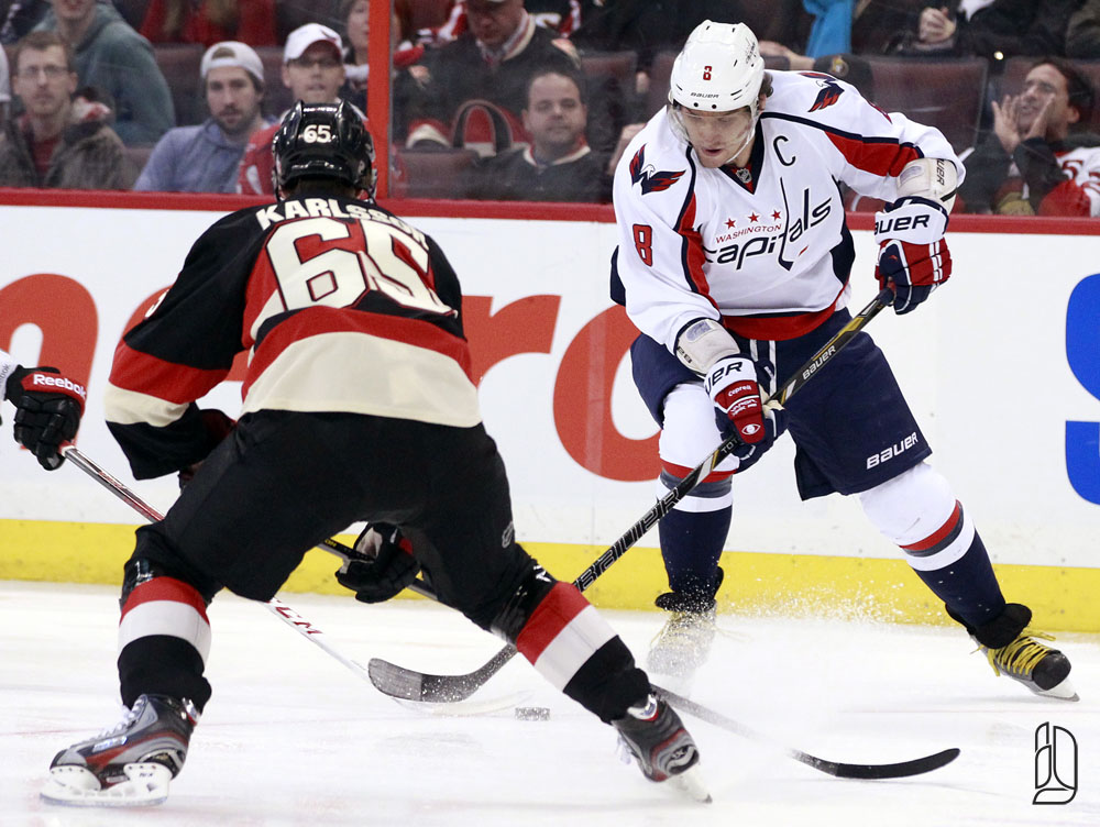 Washington Capitals' Ovechkin and Ottawa Senators' Karlsson