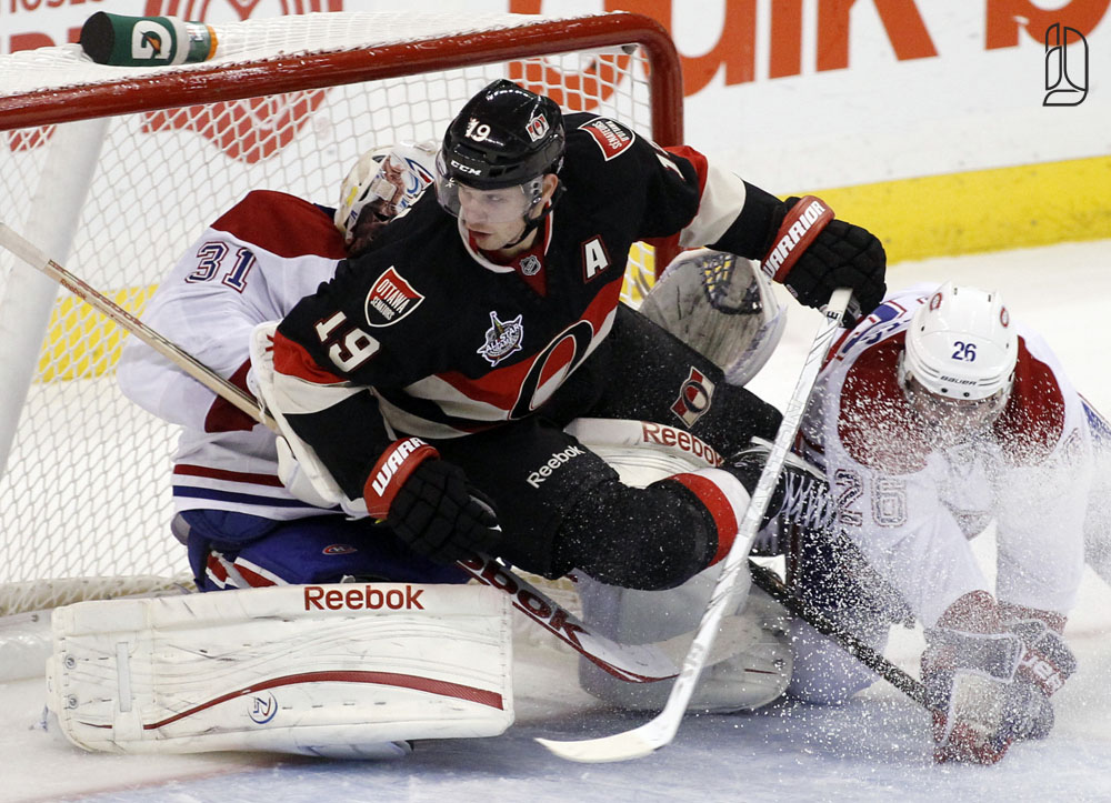 Senators' Spezza hits Canadiens' Price in Ottawa