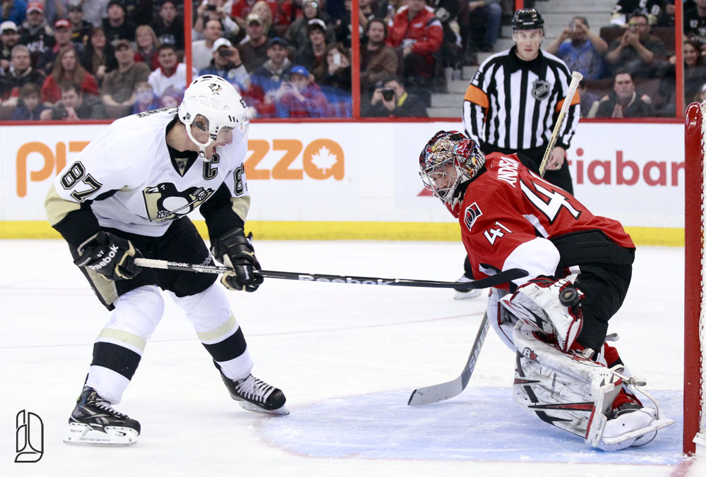 Pittsburgh Penguins' Crosby scores on Ottawa Senators' Anderson
