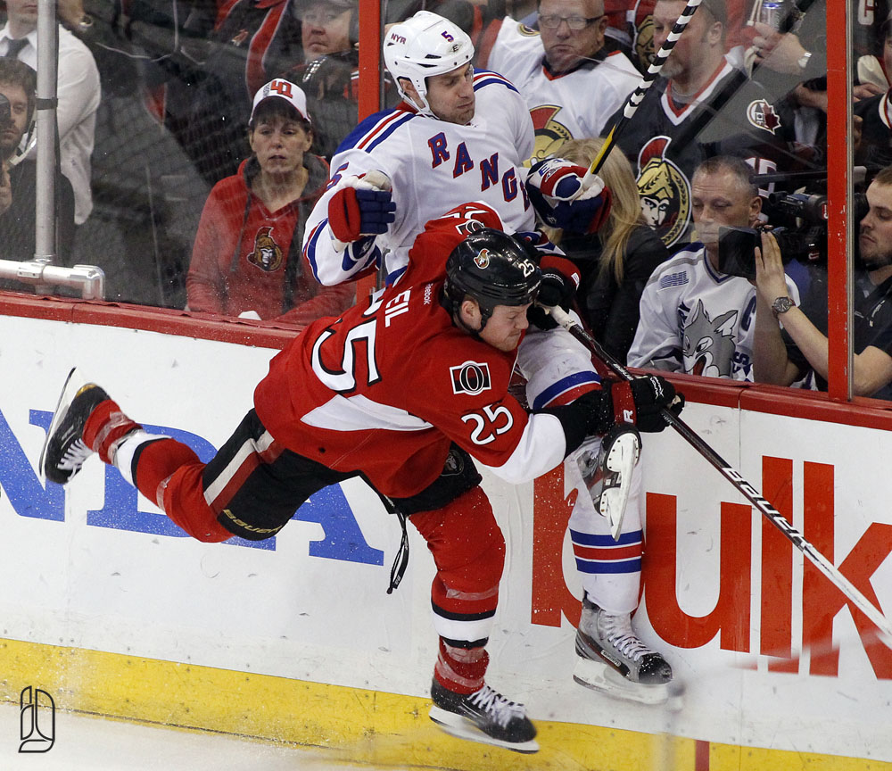 Ottawa Senators New York Rangers during game 4 in Ottawa