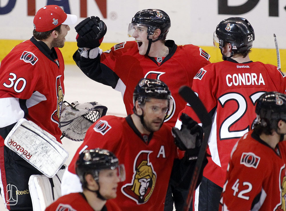 Ottawa Senators New York Rangers during game 4  in Ottawa