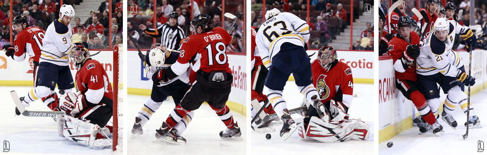 Buffalo Sabres and Ottawa Senators NHL hockey game